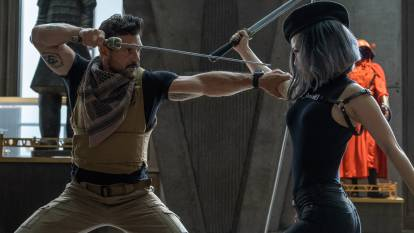 Frank Grillo and Serena Lo do battle in this enjoyable take on gaming culture. Picture: Icon
