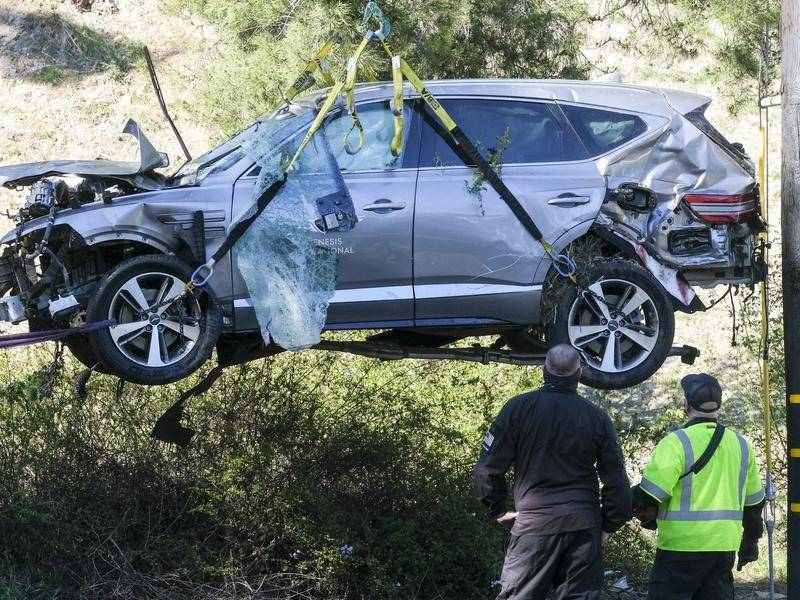 US authorities have revealed details of the crash that left Tiger Woods badly injured.