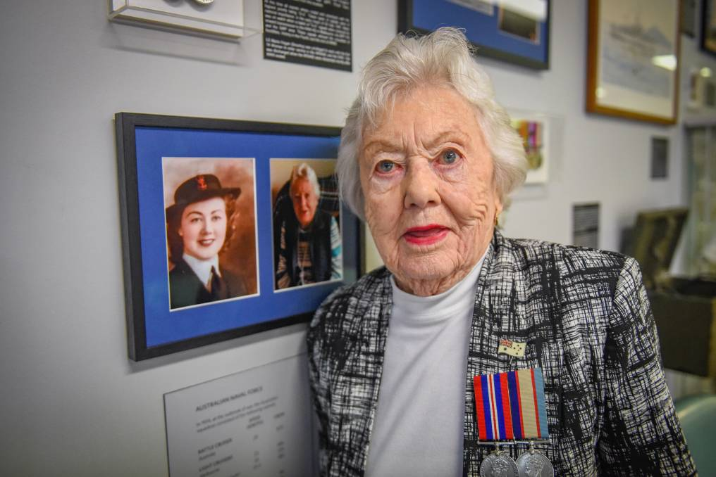 DOING HER DUTY: Launceston World War II veteran Marie Brearley was one of the first women to join the Navy. She worked in Canberra as a telecommunications decoder. Picture: Paul Scambler